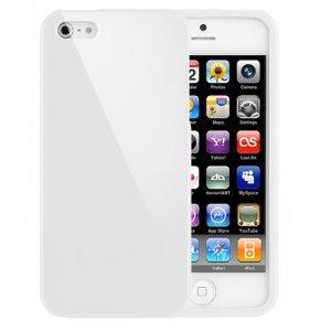 Bingsale Coque de protection en gel TPU pour Apple iPhone 5 Blanc