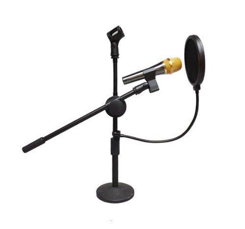 Kltech High Quality Studio Microphone Mic Wind Screen Pop Filter Mask Shied 360° Flexible Gooseneck Holder (1 Pack)