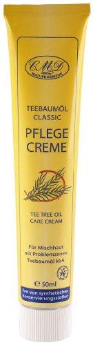 Teebaumöl Pflegecreme für unreine oder zur Trockenheit neigende Haut. Nachtpflege, 50ml