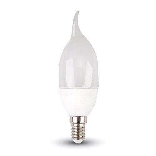 LED E14Kerze Flamme-LED Beleuchtung-LED Leuchtmittel-4W = 30W-6000K (kaltweiß)-320LM-(vt-1818t)