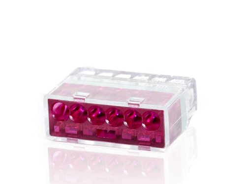 Push-In Wire Connectors - Purple - 6 Wire - 50 Count
