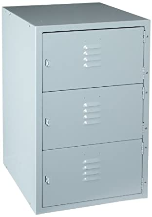 "Diversified Woodcrafts LB-6A3 3 Horizontal Openings Metal Base with Gray Baked Enamel Finish, 18"" Width x 31"" Height x 21"" Depth"