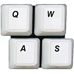 HQRP New USA UK Laminated QWERTY Keyboard Stickers for All PC & Laptops with Black Lettering on White Background