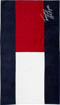 tommy hilfiger herren tuch flag towel handtuch e357828651 gr one size mehrfarbig 403. Black Bedroom Furniture Sets. Home Design Ideas