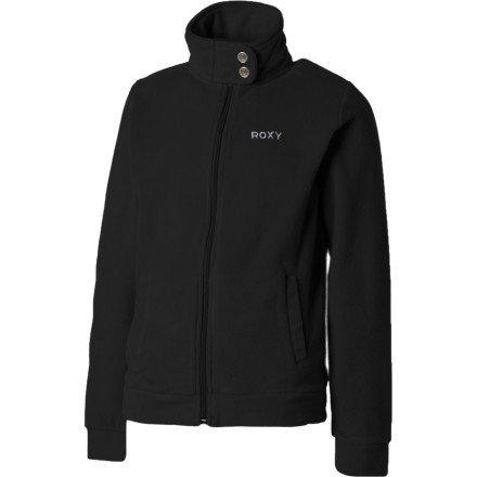 Roxy Short Track Fleece Jacket - Girls' True Black, 14