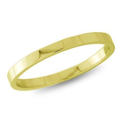 10K Yellow Gold, Flat Wedding Band 2.5MM (sz 8)