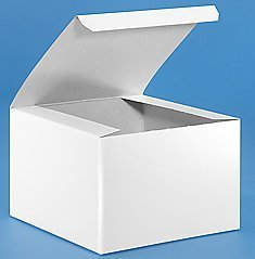 "6 X 6 X 4"" White Gloss Gift Boxes Pack of 10 - 1"