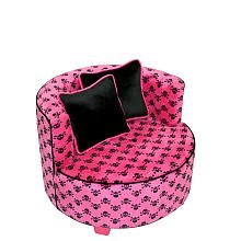 co Kids Redondo Chair Minky Hot Pink Skull from Newco Kids