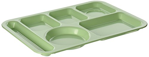 Carlisle 614 ABS 6-Compartment Divided Tray, 14″ X 10″ (Case of 24)