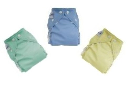 FuzziBunz 12 Pack One Size Gender Neutral Cloth Diapers NEW COLORS