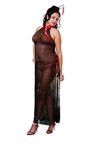 Disfraz geisha plus size