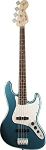 Squier by Fender Affinity Series Jazz Bass Electric Bass Guitar, Rosewood Fingerboard - Lake Placid Blue