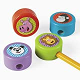 12 Plastic Zoo Character Pencil Sharpeners