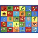 Joy Carpets Kid Essentials Language & Literacy Bilingual Phonics Rug, Multicolored, 5\'4\
