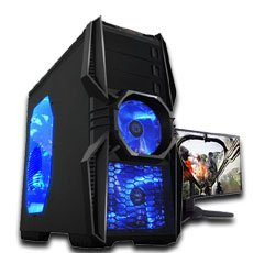 Microtel Computer® AMTI9090 Liquid Cooling Gaming Computer with Intel 3.6GHz i7 3820 Processor, 32 GB DDR3/1600, 2TB Hard Drive 7200RPM, 240GB SSD, 24X DVDRW, Nvidia Geforce 670 GTX 2GB GDDR5 Video Card, X79 Chipset, 1000Watt PS, Microsoft Windows 8 Full Version CD - 64 bit + WiFi