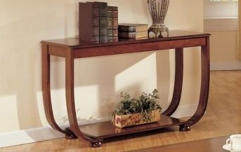 Cheap Beautiful 1-pc Console Table in Dark Cherry Finish PDS F60016 (B004RQV8M2)