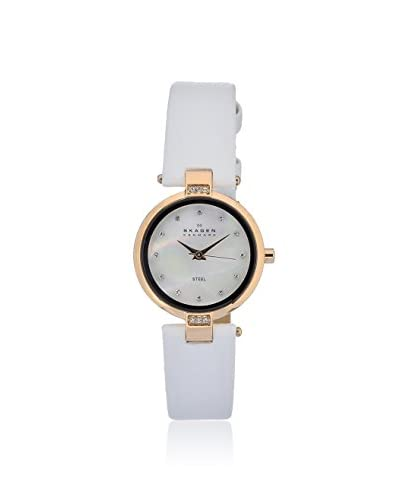 Skagen Women's 109SRLW Classic White/Mother of Pearl Leather Watch