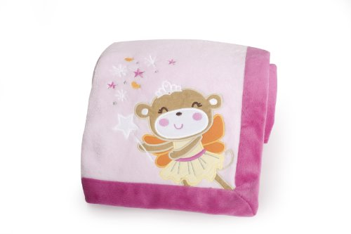 Carter'S Embroidered Boa Blanket, Fairy Monkey front-592918