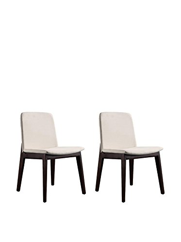 Ceets Set of 2 Susannah Dining Chairs, Cream