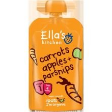 Ellas Kitchen Carrots And Apples Organic Baby Food For Stage 1, 3.5 Ounce -- 7 Per Case.