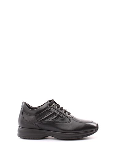 Scarpe stringate Soldini uomo numero 39 15820NERO modello hogan interactive con rialzo, pelle nere, man shoes black leather