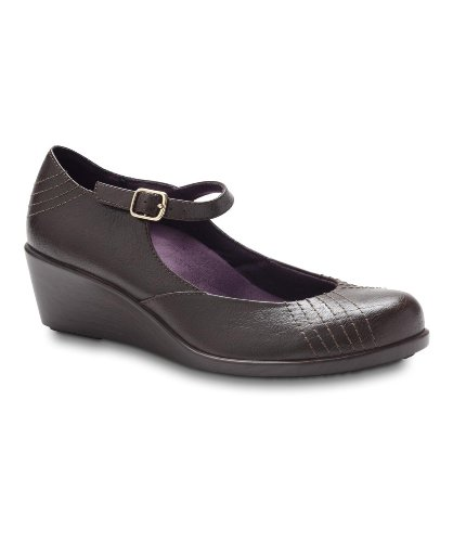Vionic With Orthaheel Technology Women'S Amelia Mary Jane Wedge,Chocolate,Us 8 M front-452304