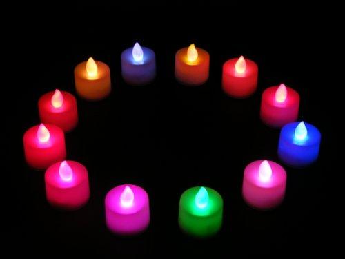 lot de 12 bougies piles sans flammes led qui change de couleur prix avis prix test. Black Bedroom Furniture Sets. Home Design Ideas