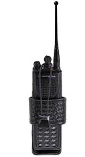 Bianchi Accumold Elite 7923 Adjustable Radio Holder (Basketweave Black, Size 1) (Radio Belt Holder compare prices)