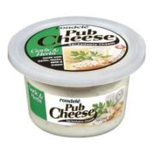 rondele-pub-garlic-and-herb-cheese-spread-8-ounce-12-per-case