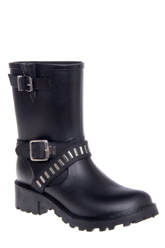 Dav Seattle Low Heel Studded Rain Boot