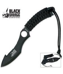 Black Savage Wilderness Survival Blade With Shoulder Harness