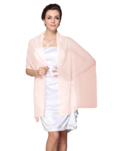 Fs0001Ppk00, Baby Pink, One Size, Ever Pretty Christmas Gift Flirty Chiffon Bridal Evening Stole Scarves 0001P