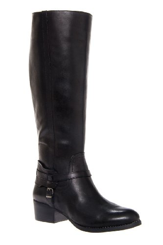 BCBGeneration Joseff Tall Chunky Low Heel Burnished Toe Equestrian Boot