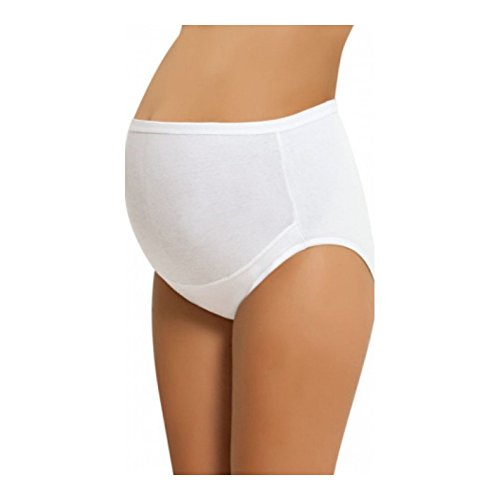 NBB Women's Adjustable Maternity high cut 100% Cotton underwear, Brief White Large