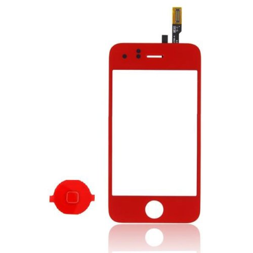 Epartsolution-Red Replacement Glass Touch Screen Digitizer For Iphone 3Gs With Home Button Lens Usa Seller front-596667