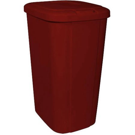 Hefty Touch Lid 13.3 Gallon Red Trash Can, Keeps odors in when closed (Hefty Garbage Can compare prices)