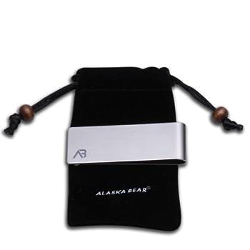 Alaska Bear® Classic Silver Cash Money Clip Credit Card Holder