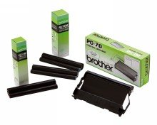 """(2 Pack) Brother Compatible PC-301 PC301 Thermal Transfer Ribbon Cartridge, 250 Pages, Black"""