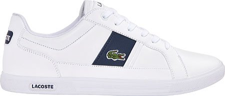 Lacoste Men's Europa Lcr3 Spm Fashion Sneaker Fashion Sneaker, White/dark Blue, 9.5 M US