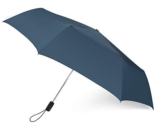 PLEMO自動開閉折り畳み傘持ち運び携帯用紳士傘、ネイビーブルー(113センチ)