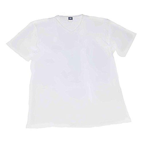 Maglia t-shirt intimo taglie forti uomo scollo a V Maxfort 500 - 3 pezzi - Grigio chiaro, 7XL