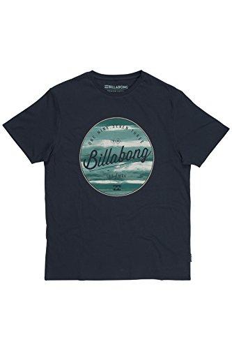 Billabong - Maglietta maniche corte, da uomo, scollo rotondo, tinta unita, taglia unica Blu (Indigo) Medium