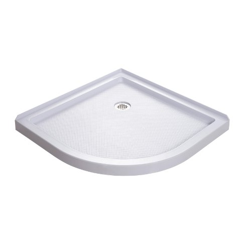 New DreamLine  DLT-7036360 SlimLine 36-Inch x 36-Inch Quarter Round Shower Floor, White