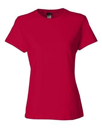 Hanes Ladies' Nano-T® T-Shirt - Deep Red - S