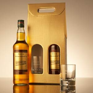Personalised Bottle Of Malt Whisky & Glass Set