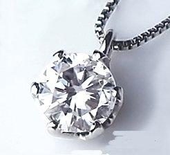 [ラグジュエリー][Lugejewelry] K18WG 一粒ダイヤモンド ペンダントネックレス[0.18cから0.20ct ]【ギフトラッピング済み】 K18WG(ホワイトゴールド)