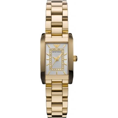 Emporio Armani Ladies Gold PVD Stainless Steel Watch