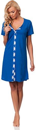 Italian Fashion IF Camicie da Notte per Allattamento Iga 0114 (Zaffiro, S)