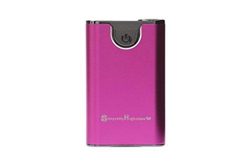 正規輸入品 SimPrettyHighClass 世界最小クラス 大容量モバイルバッテリー 超高品質!10000mAh (市販の20000mAh相当) ハイパワー/ iPhone5S 5C 5 4S 4 / iPad Mini Retina / iPod / Galaxy Xperia Nexus5 Android / 各種スマホ / Wi-Fiルーター等対応 大容量&コンパクト 90mm×55mm×20mm (日本語説明書付き) 緊急時・外出時の充電切れに nosmartphone スマートフォン充電に 超強力150ルーメン相当ライト付 防災 停電対策にも pink ピンク