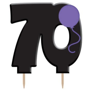 70th Birthday Candle Pick
